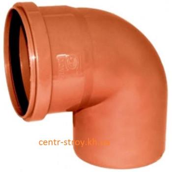 Куточок 200 мм (коліно) каналізаційний зовнішній (90 градусів)