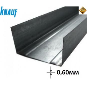 KNAUF профіль UW 75 3м (0,6 мм)