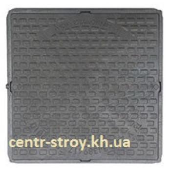 Люк оглядового садовий квадратний (чорний)