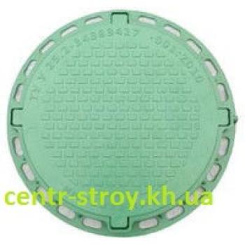 Люк оглядового садовий круглий (зелений)