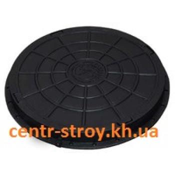 Люк оглядового садовий круглий (чорний)