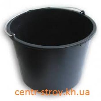 Відро пластмасове чорне (20 л)